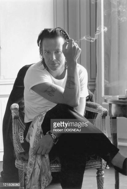 American Actor Mickey Rourke In Paris 1992