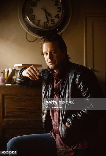 American actor Mickey Rourke on the set of Nine 1/2 Weeks, directed by Adrian Lyne.