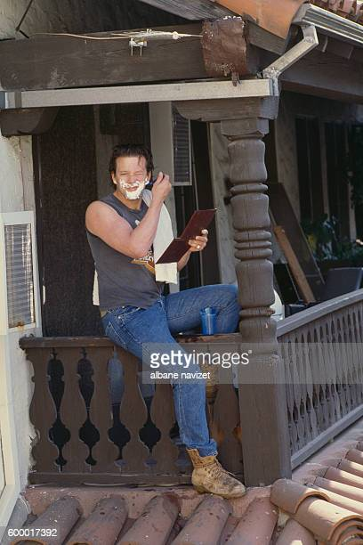 American actor Mickey Rourke
