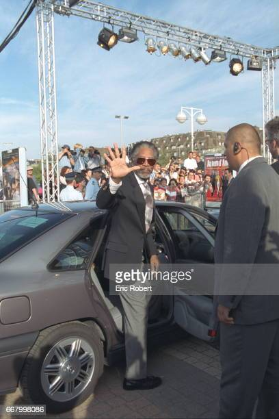 American actor Morgan Freeman arrives at the rec eption held in honor of Susan Sarandon