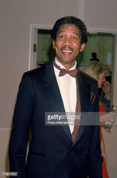 American actor Morgan Freeman attends the Golden Globes award ceremony at the Beverly Hilton Hotel Los Angeles California January 23 1988 Freeman was...