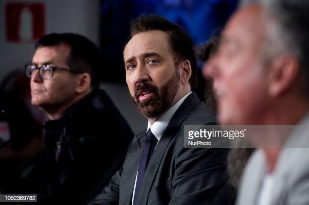 American actor Nicolas Cage at the press conference of Mandy during the 51 edition of Festival Internacional de Cinema Fantastic de Catalunya Sitges...
