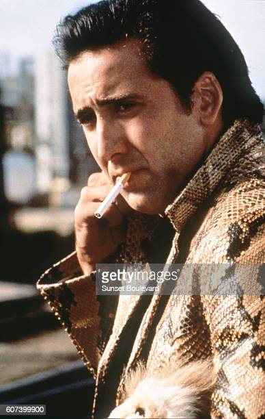 American actor Nicolas Cage on the set of Wild at Heart written and directed by David Lynch
