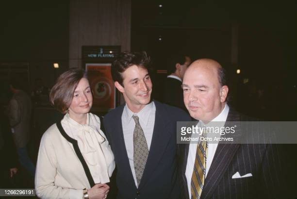 American actor Noah Wyle with his parents Marjorie and Stephen at the premiere of the restored Hitchcock film 'Vertigo' in Century City, Los Angeles,...