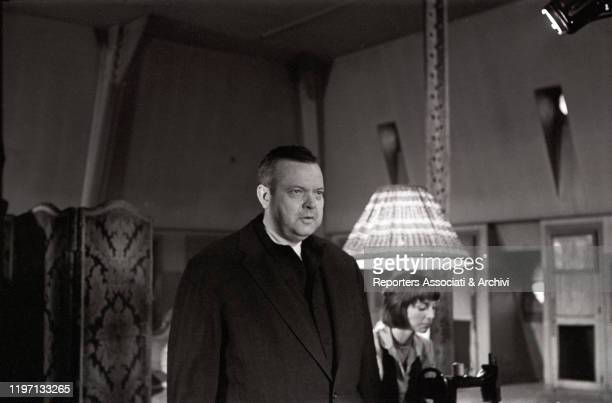 American actor Orson Welles and Italian actress Elsa Martinelli acting in The Trial 7th May 1962