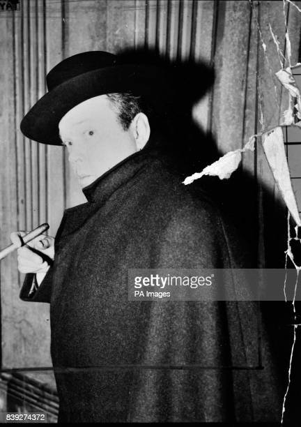 American actor Orson Welles appears as Captain Ahab in his play 'Moby Dick', which was in dress rehearsal on June 14th 1955 at the Duke of York's...