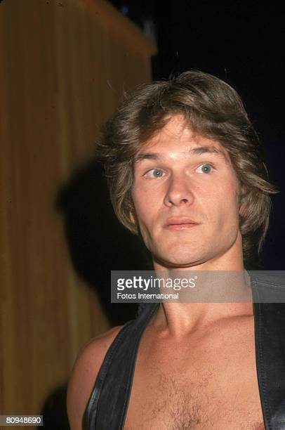 American actor Patrick Swayze at the premiere party for the movie 'Skatetown USA' at Flippers roller rink Los Angeles California October 1979