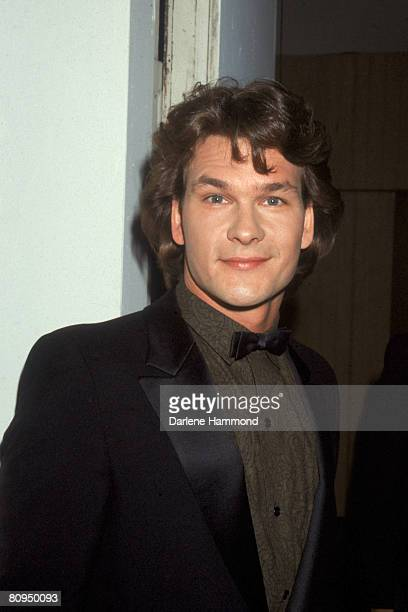 American actor Patrick Swayze poses at the 1st Annual Stuntman Awards at the studio of KABC television Los Angeles California February 2 1985
