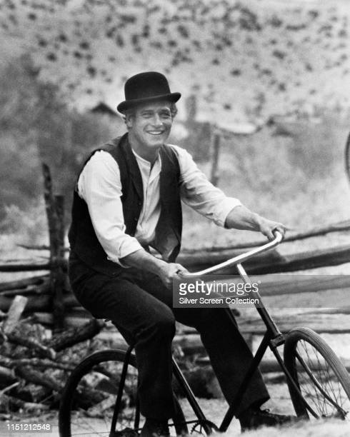American actor Paul Newman as Butch Cassidy in the Western 'Butch Cassidy and the Sundance Kid', 1969.