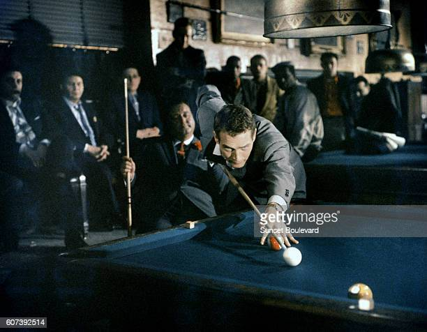 American actor Paul Newman on the set of The Hustler directed by Robert Rossen