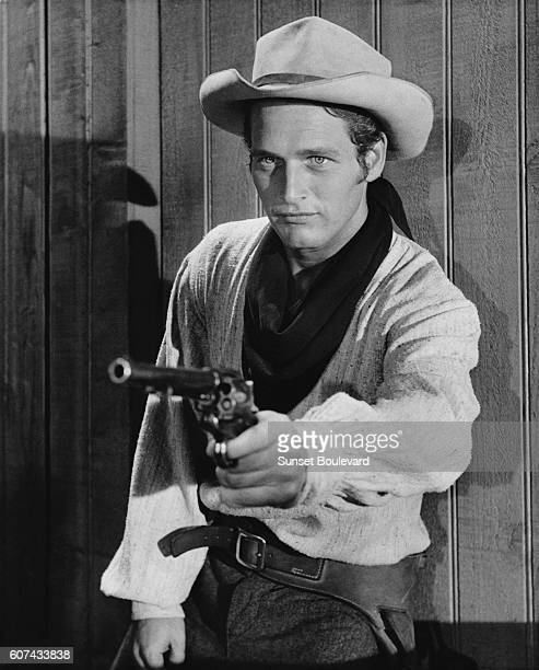 American actor Paul Newman on the set of The Left Handed Gun directed by Arthur Penn