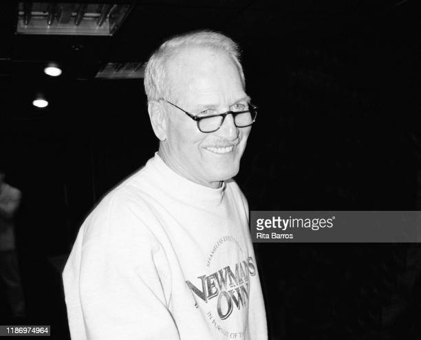 American actor Paul Newman smiles as he attends a benefit for the Blue Light Theater Company held at Irving Plaza New York New York May 12 1997