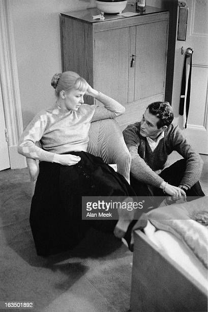 American actor Paul Newman with his wife actress Joanne Woodward 3rd February 1958
