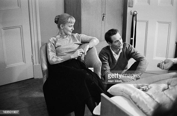 American actor Paul Newman with his wife actress Joanne Woodward 3rd February 1958 Photo by Alan Meek/Daily Express/Hulton Archive/Getty Images