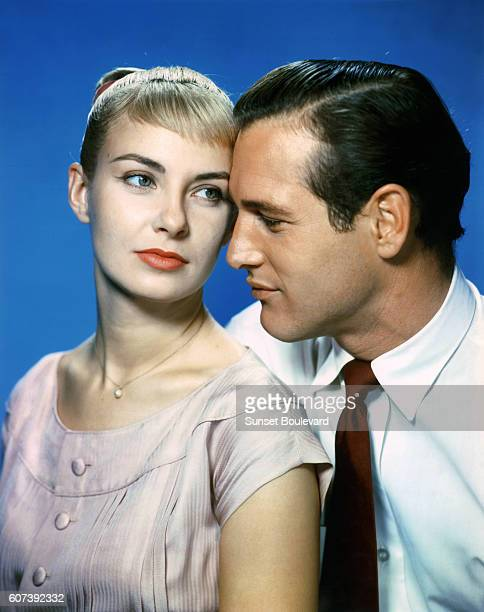 American actor Paul Newman with his wife actress Joanne Woodward on the set of The Long Hot Summer based on the novel by William Faulkner and...