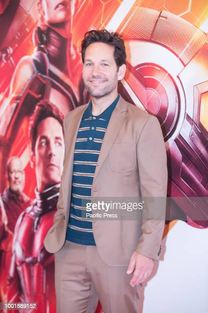 American actor Paul Rudd dueing he photocall at the Hotel De Russie in Rome of the film 'AntMan and the Wasp' produced by Marvel Studios and...
