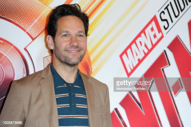 American actor Paul Rudd during the photocall of the film 'AntMan and the Wasp' presented in the De Russie Hotel Rome July 19th 2018