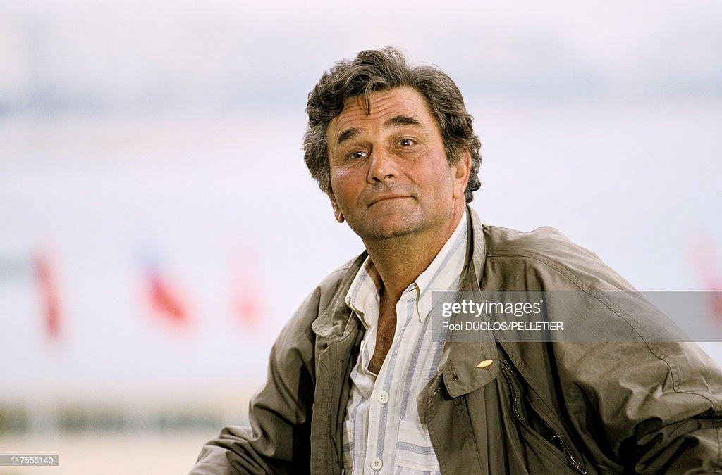 Peter Falk At Cannes Film Festival In 1987 : Nachrichtenfoto