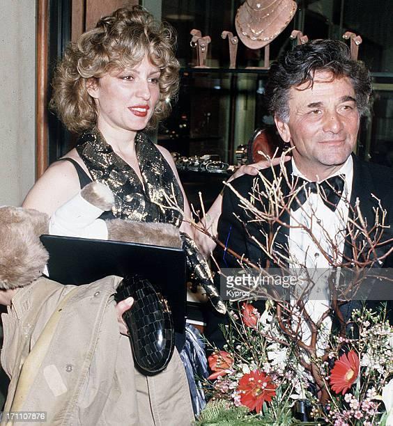 American actor Peter Falk with his wife actress Shera Danese circa 1985
