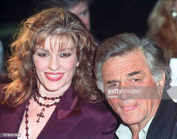 American actor Peter Falk with his wife American actress Shera Danese circa 1991