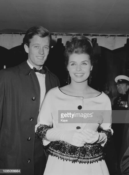 American actor Peter Fonda and Austrian actress producer and author Senta Berger attend the premiere of 'The Victors' London UK 18th November 1963