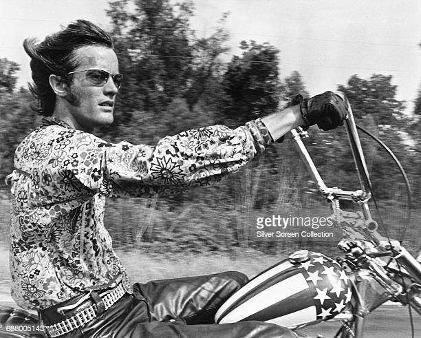 American actor Peter Fonda as Wyatt in the film 'Easy Rider' 1969