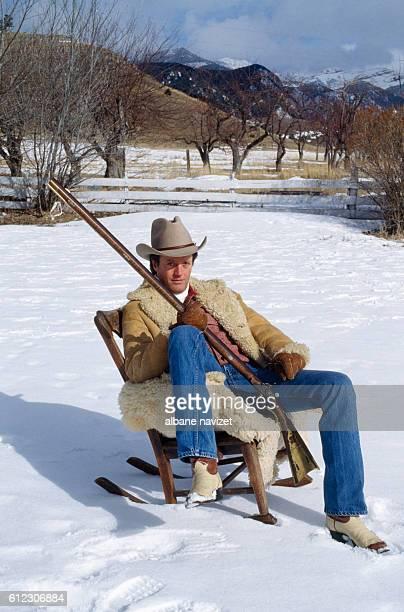 American actor Peter Fonda in his Montana home