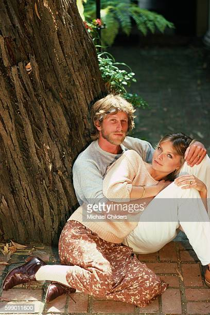 American actor Peter Horton and his wife actress Michelle Pfeiffer