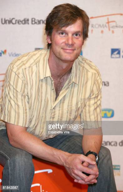 American actor Peter Krause attends the first day of Roma Fiction Fest 2008 July 7 2008 in Rome Italy