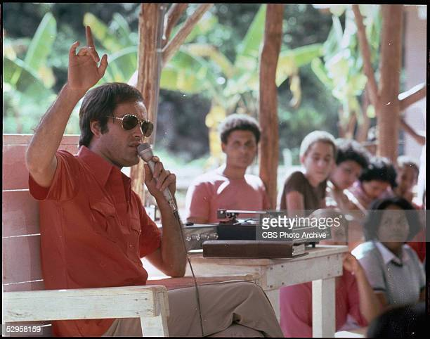 American actor Powers Boothe portrays cult leader Jim Jones in the madefortelevision movie 'Guyana Tragedy The Story of Jim Jones' 1980 The movie for...