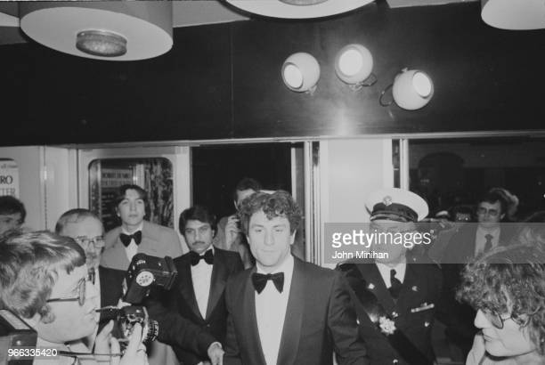 American actor producer and director Robert De Niro arrives at the UK premiere of epic war drama film 'The Deer Hunter' UK 28th February 1979