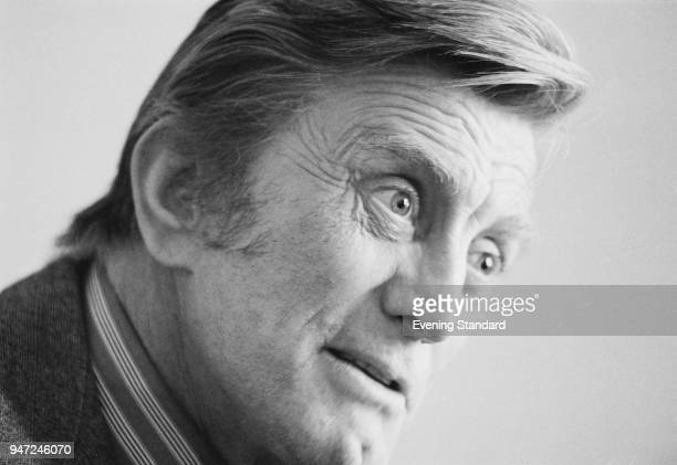 American actor, producer and film director Kirk Douglas, UK, 26th May 1977.
