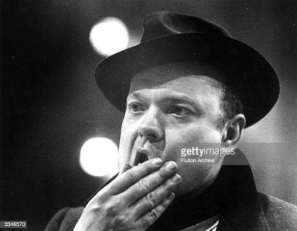 American actor producer director and writer Orson Welles