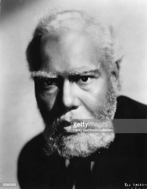 American actor Rex Ingram styled as God or 'De Lawd' for the film 'Green Pastures' a retelling of the Old Testament stories from an AfroCaribbean...
