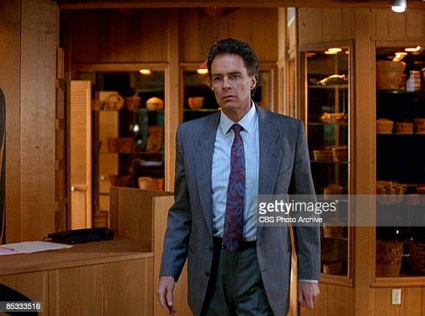 American actor Richard Beymer in a scene from the pilot episode of the television series 'Twin Peaks' originally broadcast on April 8 1990