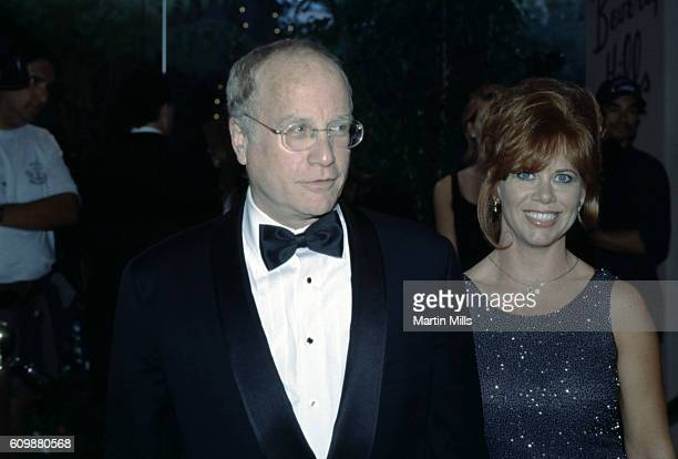 American actor Richard Dreyfuss and his wife Janelle Lacey attend Milton Berle's 90th Birthday Celebration on July 12 1998 at the Beverly Hills Hotel...