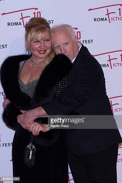 American actor Richard Dreyfuss and Svetlana Erokhin arrive on the red carpet at the opening ceremony of the 2016 Rome Fiction Fest.