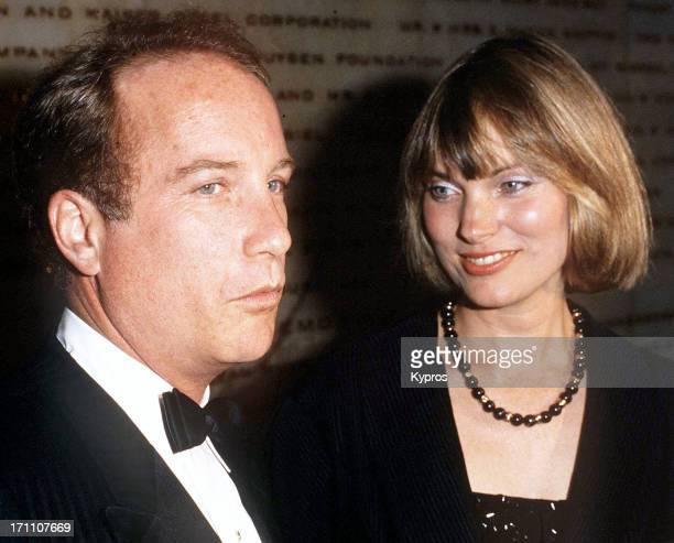 American actor Richard Dreyfuss with his wife actress Jeramie Rain circa 1985