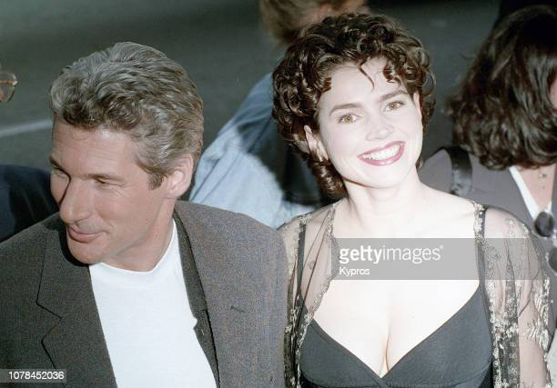 American actor Richard Gere and English actress Julia Ormond attend the 'First Knight' Beverly Hills Premiere at the Academy Theatre in Beverly Hills...