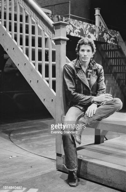 American actor Richard Gere in his role as Danny Zuko in the London stage musical 'Grease', UK, 1st August 1973.