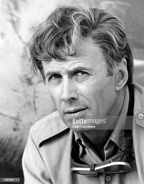 American actor Richard Kiley on the set of the film 'The Little Prince' in Tunisia 1974 He plays the part of The Pilot