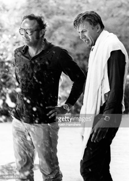 American actor Richard Kiley with director Stanley Donen during the filming of 'The Little Prince' in Tunisia 1974