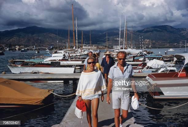 American actor Richard Widmark at a yacht marina in Acapulco Mexico January 1961