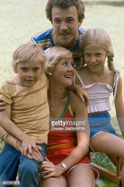 American actor Ricky Schroder and family mother Diane father Richard and sister Dawn on the set of The Champ