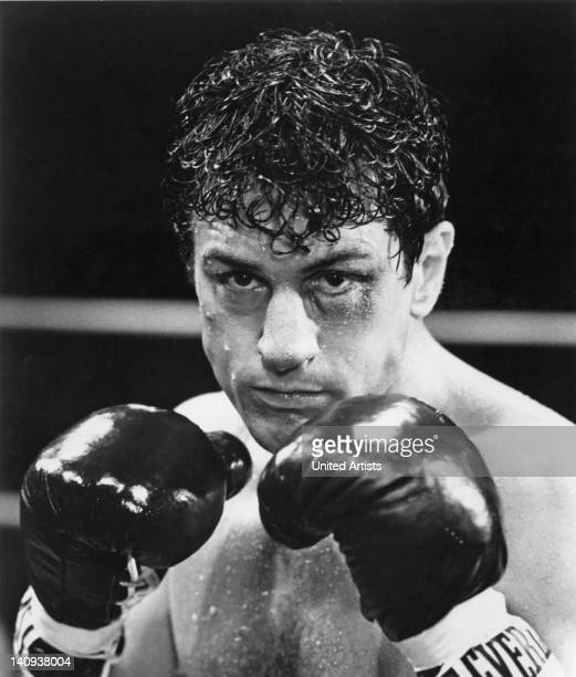 American actor Robert De Niro as boxer Jake LaMotta in a scene from 'Raging Bull' directed by Martin Scorsese 1980