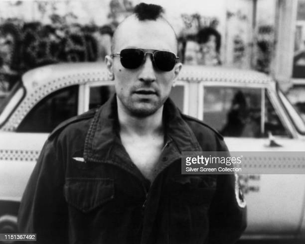 American actor Robert De Niro as Travis Bickle in the film 'Taxi Driver' 1976