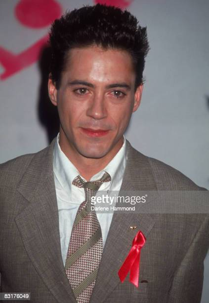 American actor Robert Downey Jr Robert at the first annual MTV Movie Awards Los Angeles 6th June 1992
