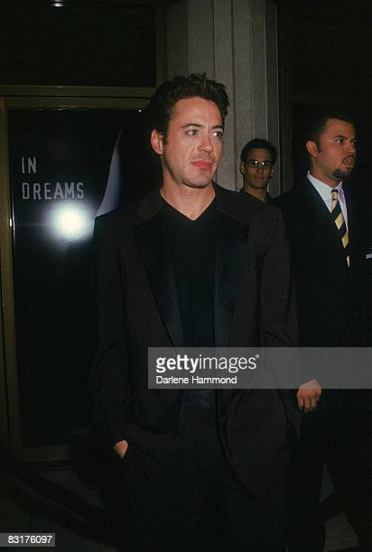 American actor Robert Downey Jrat the premiere of Neil Jordan's 'In Dreams' at the National Theatre Los Angeles 11th January 1999