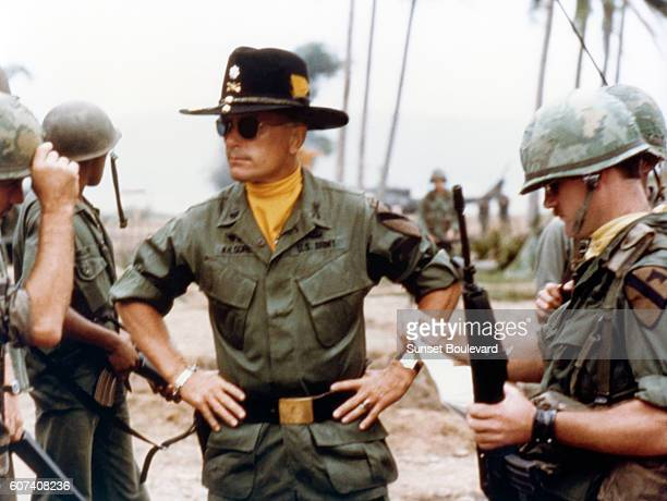 American actor Robert Duvall on the set of the film Apocalypse Now directed by Francis Ford Coppola and based on Joseph Conrad's novel Heart of...
