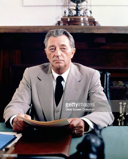 American actor Robert Mitchum as Victor 'Pug' Henry in the TV miniseries 'The Winds of War' 1983